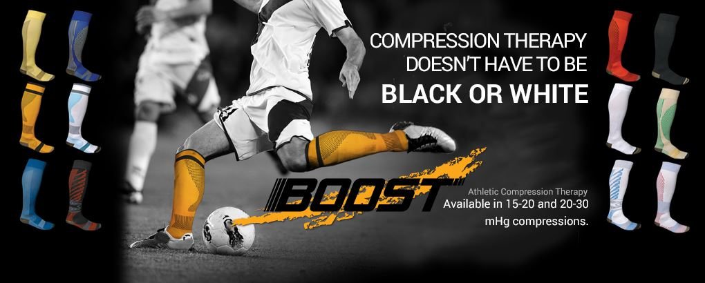 Compression Therapy doesn't have to be black or white. Athletic compression therapy Available in 15-20 and 20-30 mHg compressions.